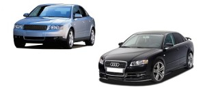 Audi A4 B6 and B7 engine oil capacity in quarts / liters