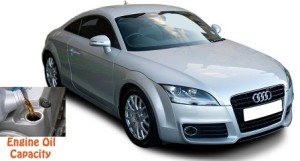 Audi TT, TTS and TTRS 2 8J engine oil capacity in quarts / liters