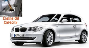 BMW 116i and 116 d engine oil capacity in quarts / liters