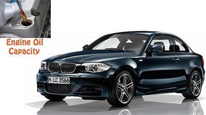 BMW 130 i engine oil capacity in quarts / liters – Engine