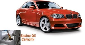 BMW 135 i engine oil volume in quarts - liters