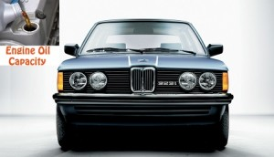 BMW 3 series E30 323 i engine oil capacity in quarts - liters