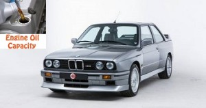 BMW 3 series E30 324 engine oil volume in quarts - liters