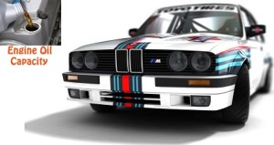BMW 3 series E30 325 engine oil volume in quarts - liters