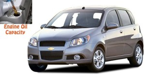 Chevrolet Aveo engine oil volume in quarts - liters