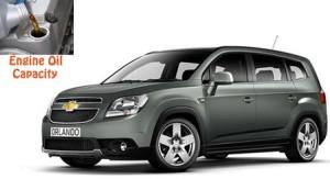 Chevrolet Orlando engine oil capacity in quarts – liters