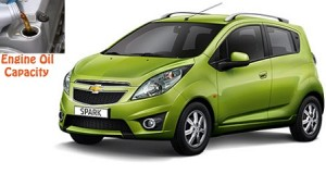Chevrolet Spark engine oil volume in quarts – liters