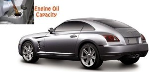 Chrysler Crossfire engine oil volume in quarts – liters