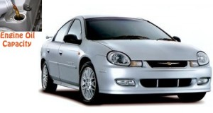 Chrysler Neon engine oil volume in quarts – liters