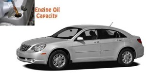 Chrysler Sebring engine oil volume in quarts – liters