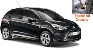 Citroen C3 II generation engine oil volume in quarts – liters