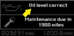 Engine oil level indicator Citroen C5 II