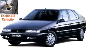 Citroen XM engine oil volume in quarts – liters