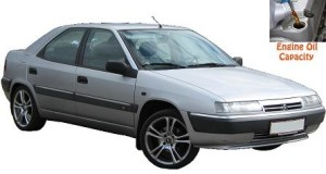 Citroen Xantia engine oil volume in quarts – liters