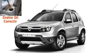 Dacia Duster engine oil volume in quarts – liters