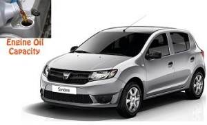 Dacia Sandero engine oil volume in quarts – liters