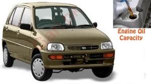 Daihatsu Cuore 4 engine oil volume in quarts – liters