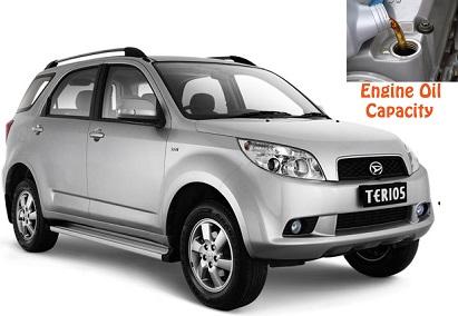 Daihatsu Terios engine oil capacity in quarts – liters – Engine Oil