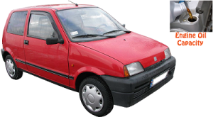 Fiat Cinquecento engine oil volume in quarts – liters
