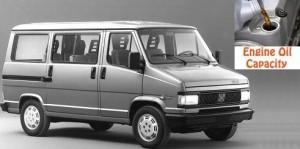 Fiat Ducato engine oil volume in quarts – liters 1981 - 1994