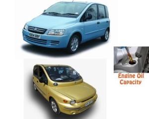 Fiat Multipla engine oil volume in quarts – liters