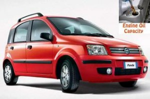 Fiat Panda 2 engine oil volume in quarts – liters