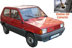 Fiat Panda engine oil volume in quarts – liters