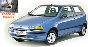 Fiat Punto 1 engine oil volume in quarts – liters