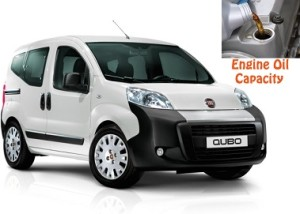 Fiat Qubo engine oil volume in quarts – liters