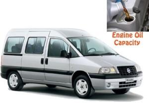 Fiat Scudo 1 engine oil volume in quarts – liters