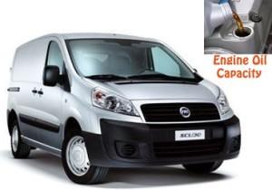 Fiat Scudo 2 engine oil volume in quarts – liters