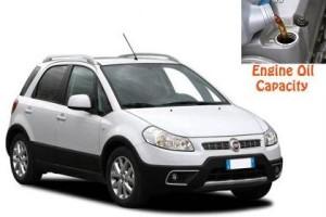 Fiat Sedici engine oil volume in quarts – liters