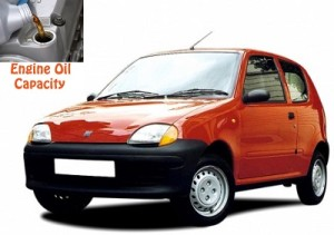 Fiat Seicento engine oil volume in quarts – liters