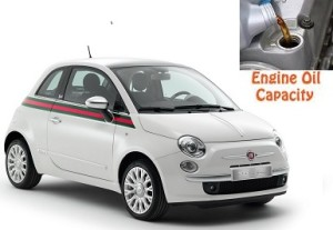Fiat 500 engine oil volume in quarts – liters
