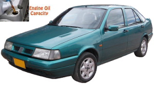 Fiat Tempra engine oil volume in quarts – liters
