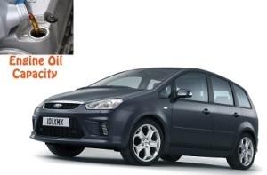 Ford C-Max engine oil volume in quarts – liters