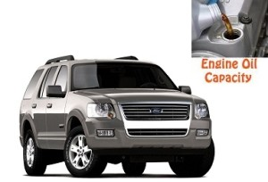 Ford Explorer 4 engine oil volume in quarts – liters