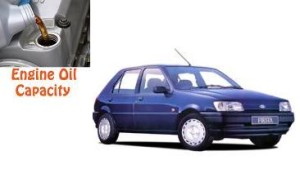Ford Fiesta 3 engine oil volume in quarts – liters