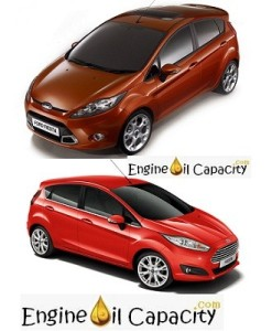 Ford Fiesta 6 engine oil volume in quarts – liters