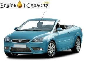 Ford Focus Cabriolet engine oil volume in quarts – liters