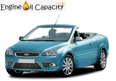 ford focus cabriolet engine oil capacity in quarts liters engine oil capacity for all vehicles. Black Bedroom Furniture Sets. Home Design Ideas