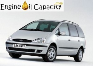 Ford Galaxy 1 engine oil volume in quarts – liters