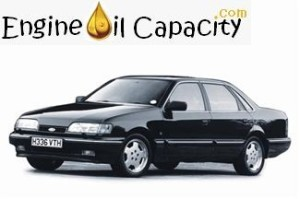 Ford Granada engine oil volume in quarts – liters
