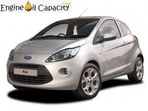 Ford KA 2 engine oil volume in quarts – liters