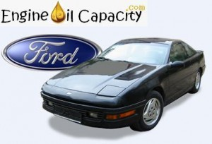 Ford Probe engine oil volume in quarts – liters