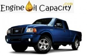 Ford Ranger engine oil volume in quarts – liters