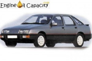 Ford Sierra 1 engine oil volume in quarts – liters