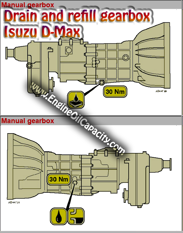 Drain and refill gearbox oil Isuzu D-Max